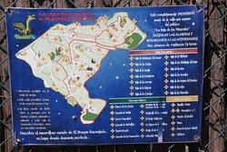 Plano del parque con las diferentes ubicaciones