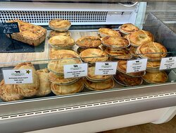 great selection of pies and pasties from the deli