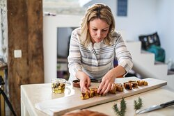 Senka, your own chef for the day you visit Wild Orange, preparing the amazing fresh squid pie.