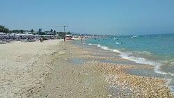 Distesa di sassi sulla spiaggia