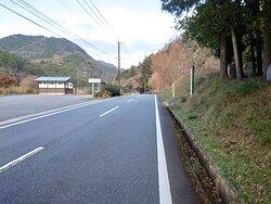 佐田京石 前の道路