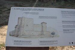 Panel informativo sobre el castillo