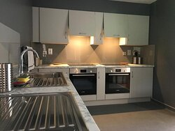 Self-catering kitchen at East Coast Adventure Centre