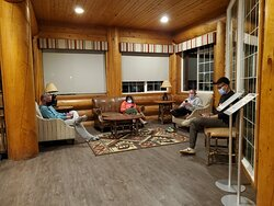 Seating area in the Lodge