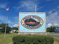 Frisco Woods Campground Road side sign