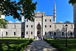 The facade of the mosque