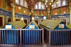 The tombs of  Suleiman the Magnificent, Suleiman II (ruled 1687–1691) and Ahmed II (ruled 1691–1695).