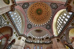 The dome is flanked by semi-domes, built by Sinan.