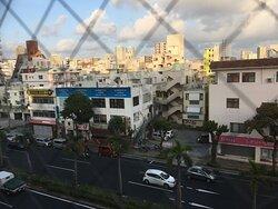 5階客室からの眺め(正面にハイウエイ食堂)