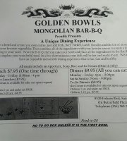 Golden Bowls Mongolian Barbeque
