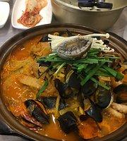 Sokcho Seafood Stew in Hot Pot Jjambbong