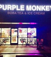 Purple monkey boba tea and ice cream