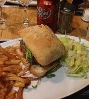 Un Burger Dans La Cuisine