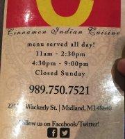 Cinnamon Indian Cuisine Restaurant