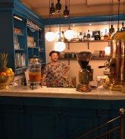 Café Flamingo Blau