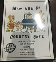 Maw and Pa's Country Cafe