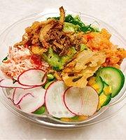 Poke fish sushi burrito &ramen noodle