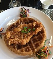 Larry B's Rhythm Room featuring Hazel's Gourmet Chicken and Waffles