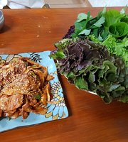 Somri Leaf Wraps and Rice