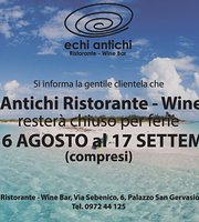 Echi Antichi Restaurant - Wine Bar