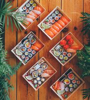 Wood Sushi in a Box