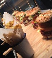 Charred burger