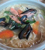 Handmade Noodles Soup and Barley Rice