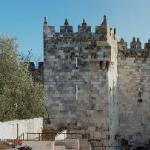 Damascus Gate, five minutes from hotel, on a holiday.