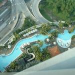 Pool area (viewed from 31st floor)
