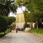 Entrance Drive into Santa Prisca, Roma