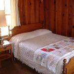 Notice The Hand Made Quilt.  One On Every Bed In The Motel