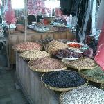 Different peanuts at the market
