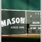 The famous wall at Fenway Park.