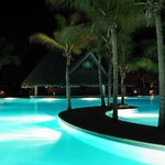 Barcelo Beach pool at night