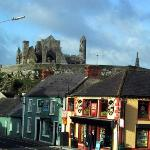 View of the Rock over the rooftops of Cashel
