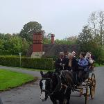 ON A JAUNTING CART!!