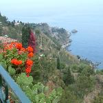 A beautiful view of the Med from Taormina