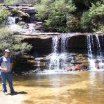 Just the top portion of Wentworth Falls.