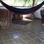 hammock in one of the bungalows