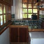 kitchen in one of the bungalows