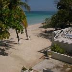 View of Negril Beach from our Coco La Palm balcony room
