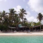 Siboney beach facing restaurant