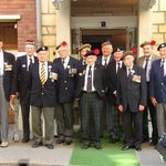 D-Days Vets. who liberated the Townoutside the hotel 60 years later