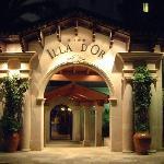 The imposing Hotel entrance