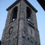 This was a view of an old church tower taken from the window in our room.