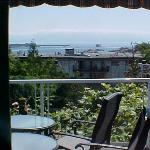 Watching the ships come in from An Ocean View Bed and Breakfast in Victoria British Columbia