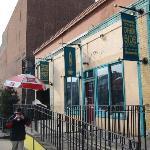 Cafe entrance off Mass Ave.