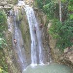 waterfalls on the safari ride