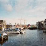 Centraal Station in the background (which is about the distance hostel is from it- one...