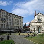 Hotel front & Basilica of Santa Maria Novella